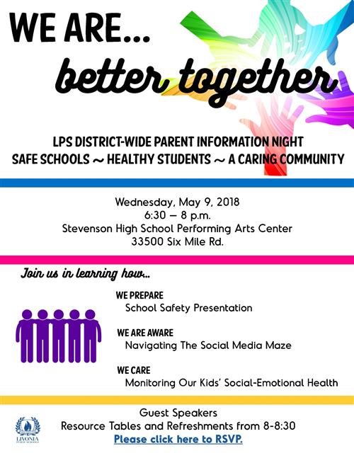 Safe Schools information night flyer