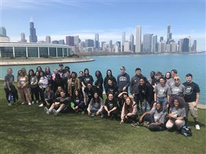 group of students in Chicago