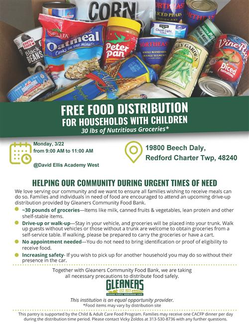 food pantry flyer