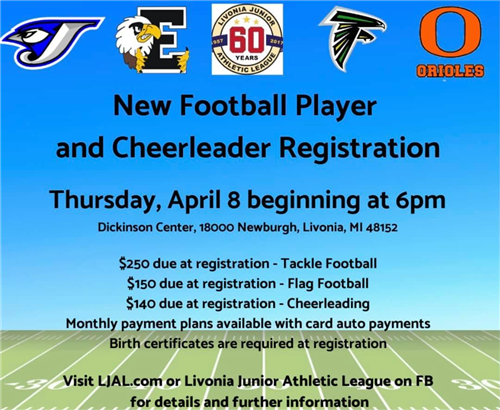 football registration info