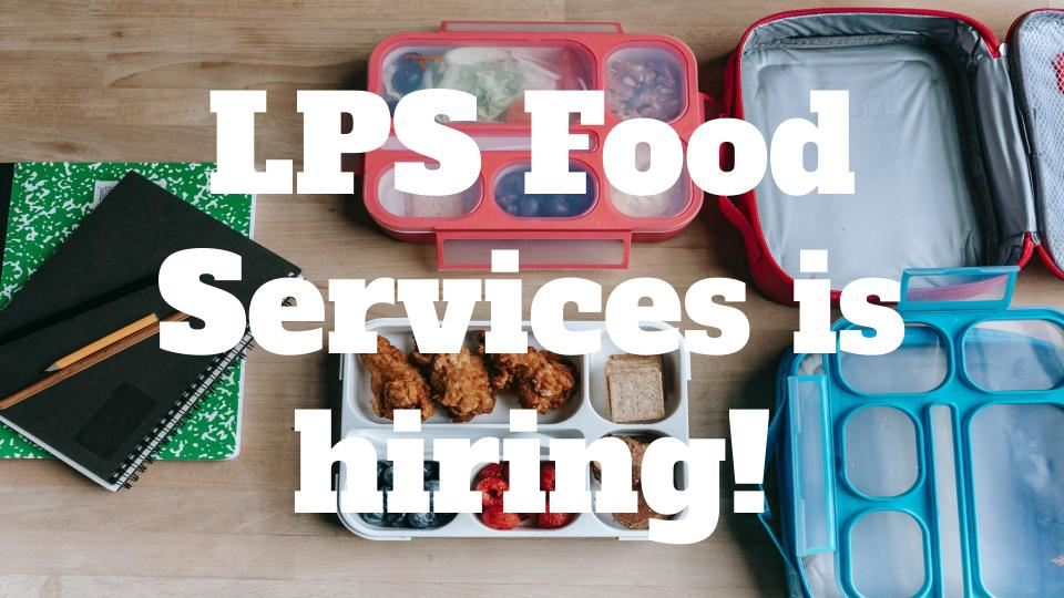 Lunch helpers needed!