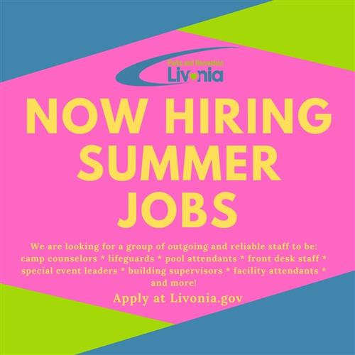 summer jobs flyer