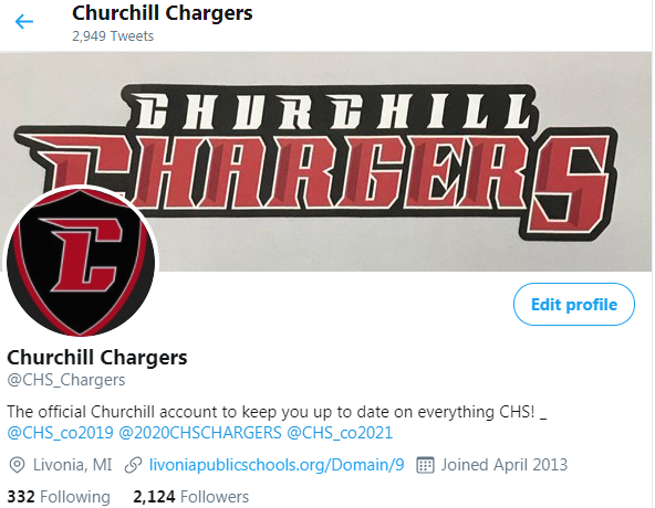 Churchill Athletics Twitter Feed